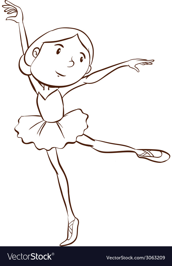 A plain drawing of a ballerina vector | Price: 1 Credit (USD $1)
