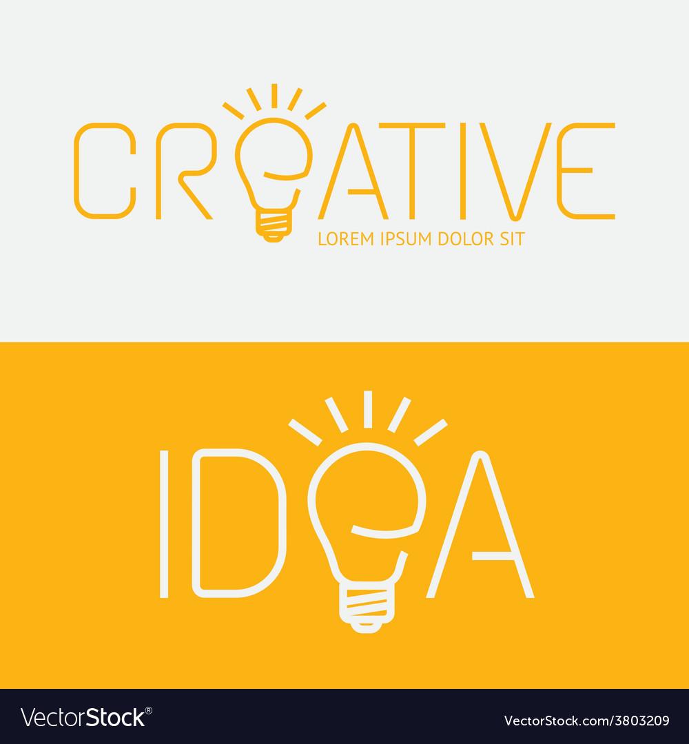 Alphabet design creative idea concept with flat vector | Price: 1 Credit (USD $1)