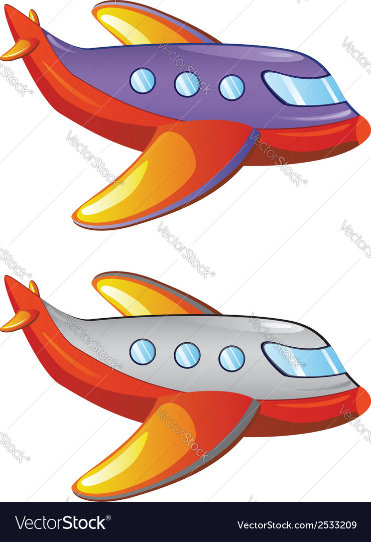Cartoon airplane2 vector | Price: 1 Credit (USD $1)