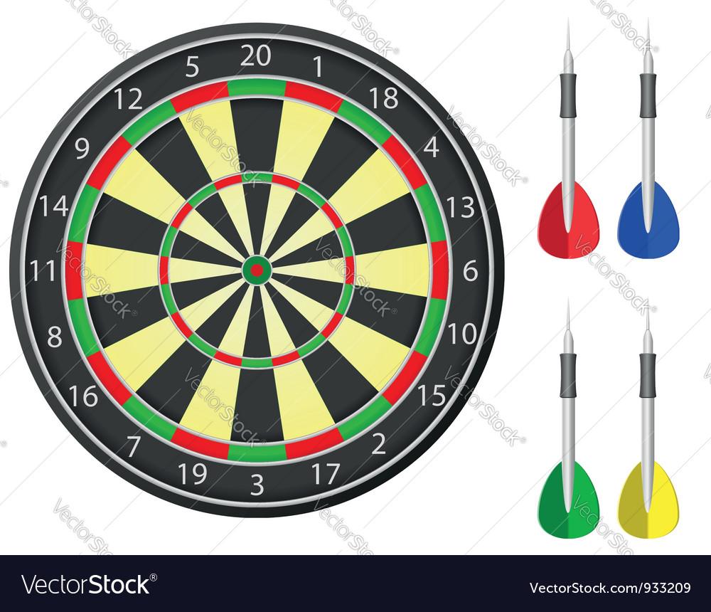 Darts board vector | Price: 1 Credit (USD $1)