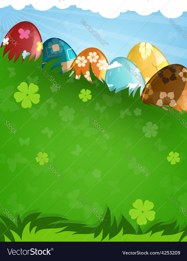 Decorated easter eggs vector | Price: 3 Credit (USD $3)