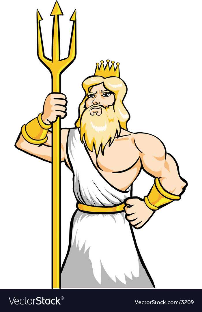 God poseidon vector | Price: 1 Credit (USD $1)