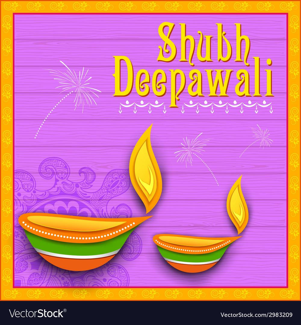 Happy diwali background vector   Price: 1 Credit (USD $1)