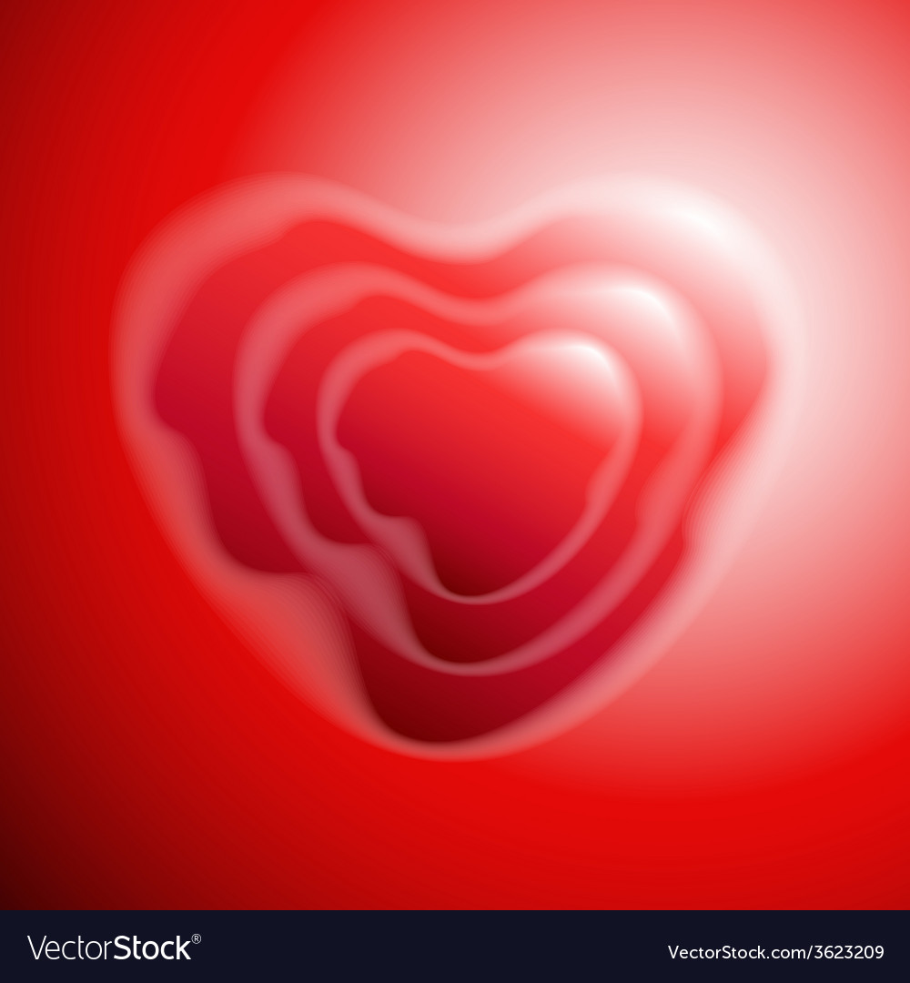 Heart shape on red background vector | Price: 1 Credit (USD $1)
