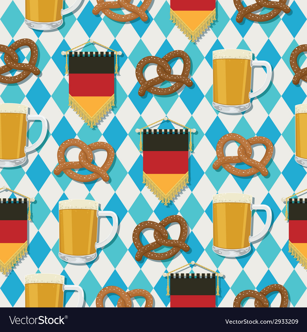 Oktoberfest pattern vector | Price: 1 Credit (USD $1)
