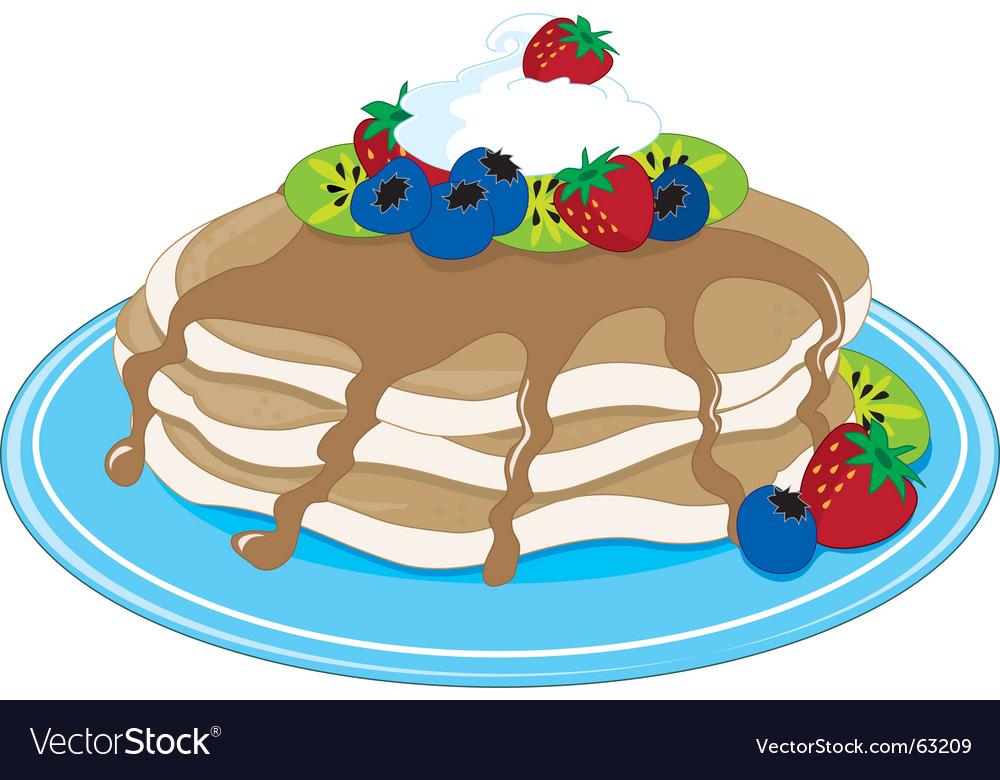 Pancakes fruit vector | Price: 1 Credit (USD $1)