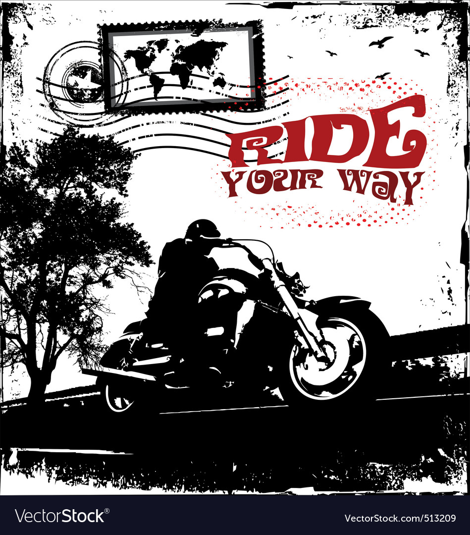 Ride your way vector | Price: 1 Credit (USD $1)
