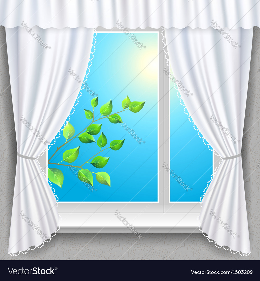 Spring window vector | Price: 3 Credit (USD $3)