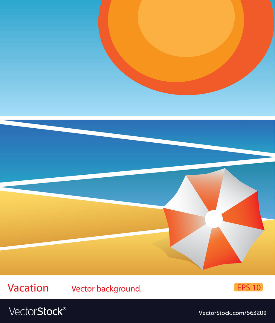 Vacation abstract background vector | Price: 1 Credit (USD $1)