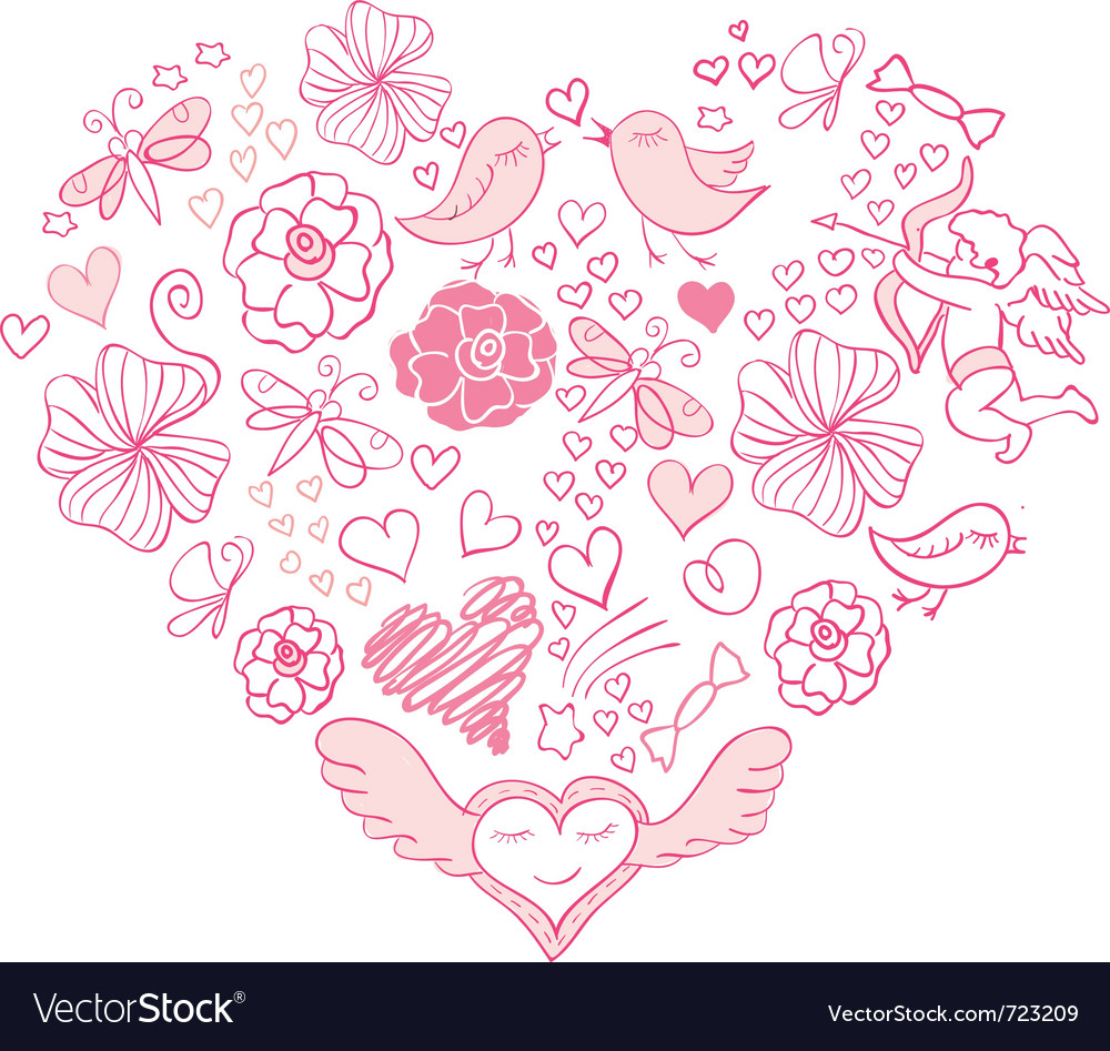 Valentine day card vector | Price: 1 Credit (USD $1)