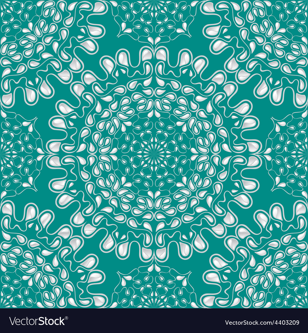 White water drops on turquoise background vector | Price: 1 Credit (USD $1)