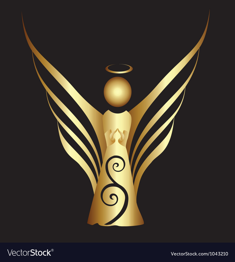 Angel ornament vector | Price: 1 Credit (USD $1)