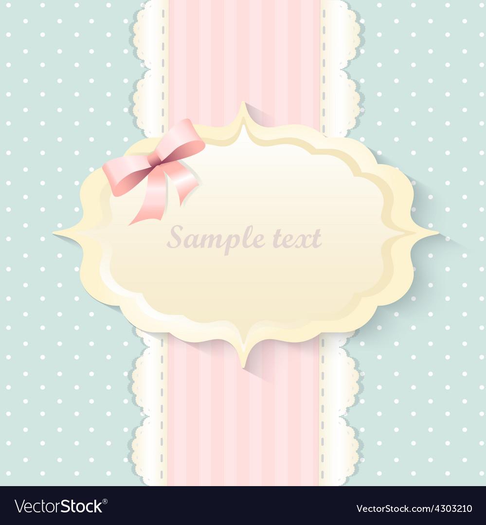 Classic romantic invitation design  pink vector   Price: 1 Credit (USD $1)