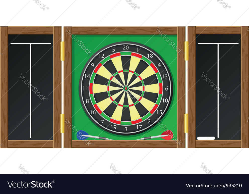 Dart board vector | Price: 3 Credit (USD $3)