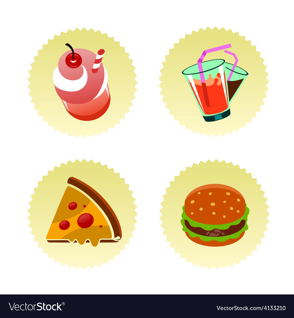 Fast food set two vector | Price: 1 Credit (USD $1)