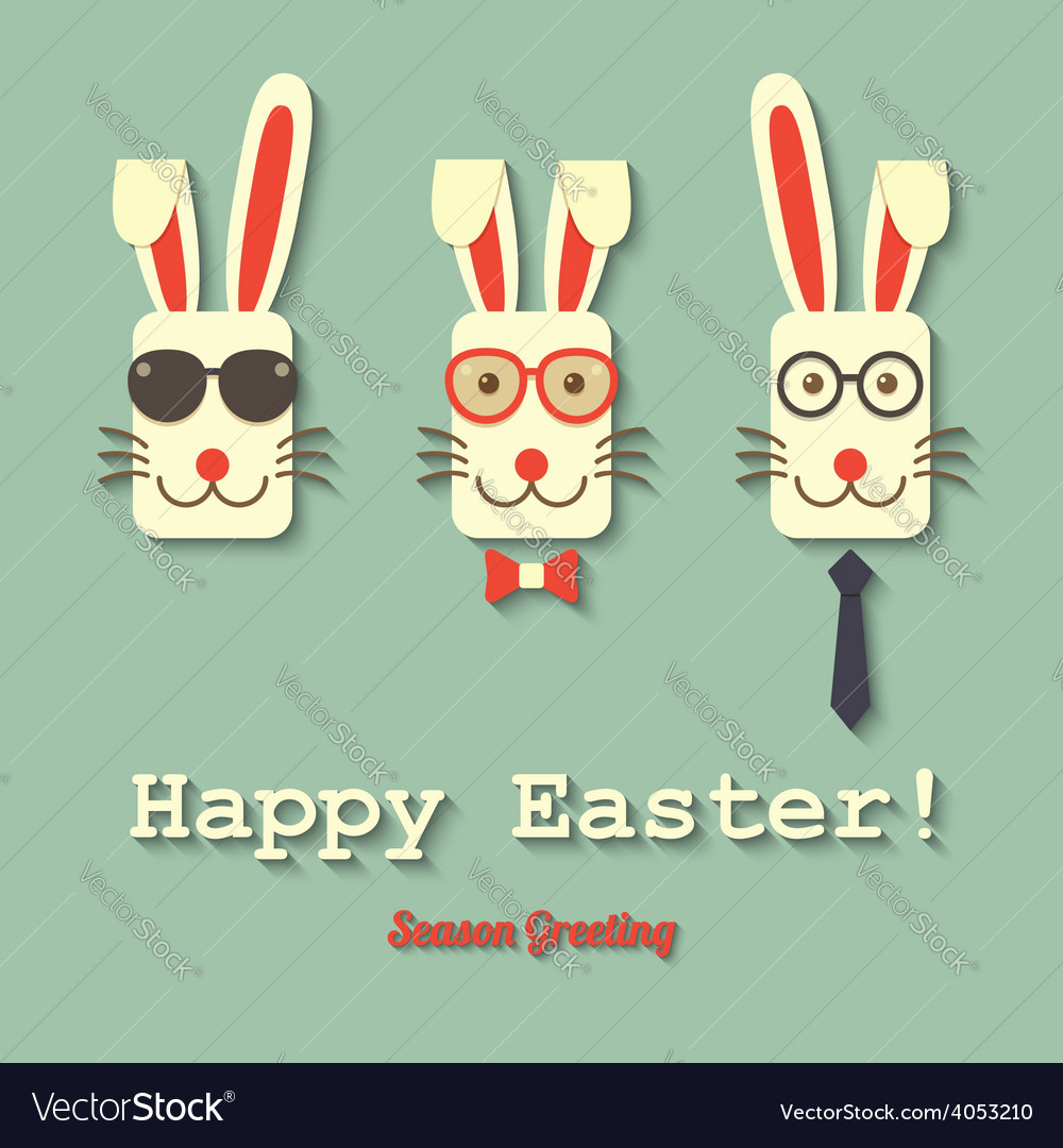 Happy easter bunny vector | Price: 1 Credit (USD $1)