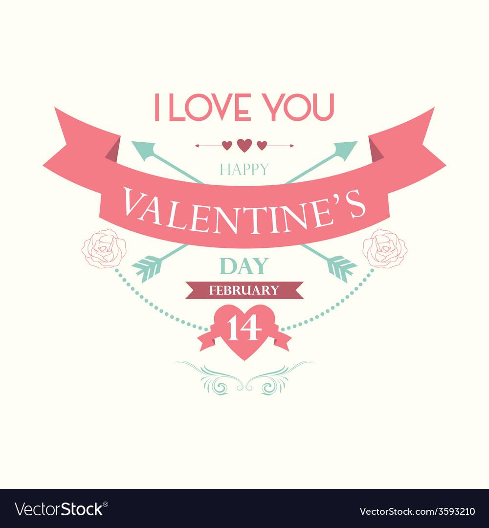Happy valentine day vector | Price: 1 Credit (USD $1)