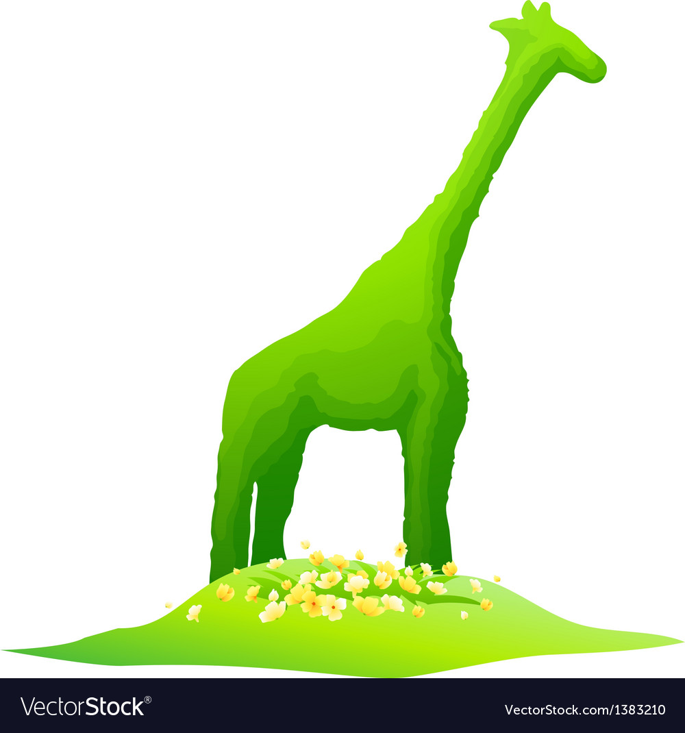 Icon giraffe shape plant vector | Price: 1 Credit (USD $1)