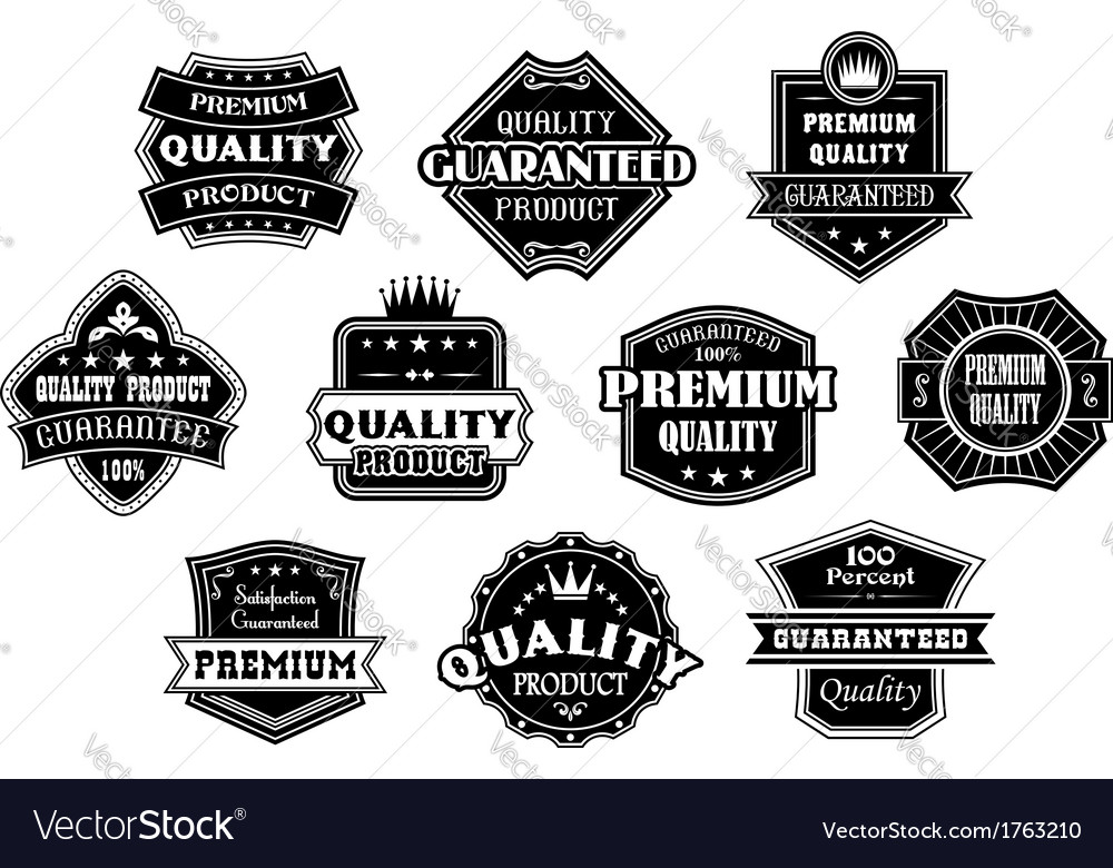 Labels set in vintage western style vector | Price: 1 Credit (USD $1)
