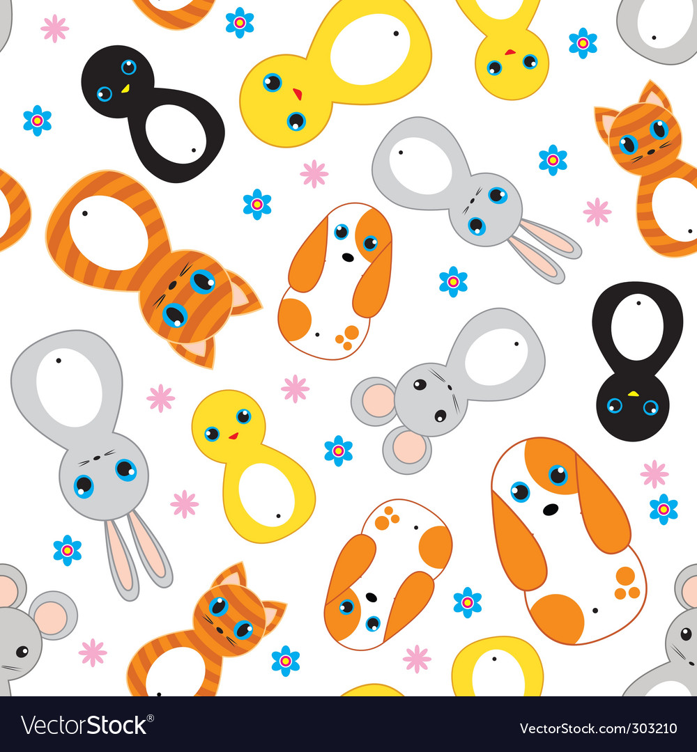 Nursery animals pattern vector | Price: 1 Credit (USD $1)