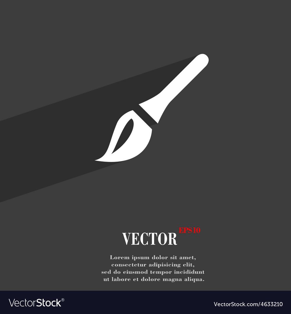 Paint brush artist icon symbol flat modern web vector | Price: 1 Credit (USD $1)
