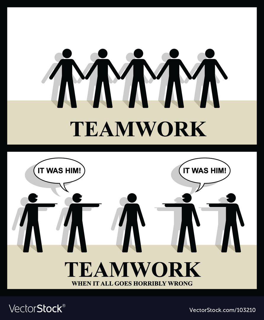 Teamwork one vector | Price: 1 Credit (USD $1)