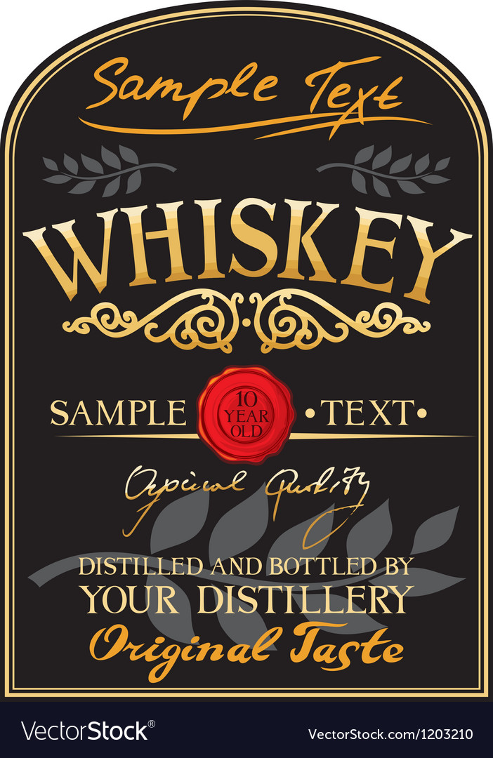 Whiskey label vector | Price: 3 Credit (USD $3)