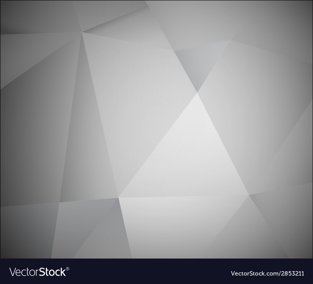 Abstract 3d grey background made from triangles vector | Price: 1 Credit (USD $1)