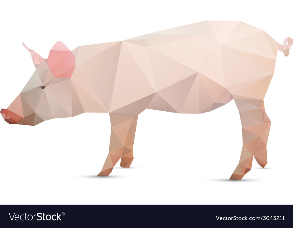 Abstract pig vector | Price: 1 Credit (USD $1)