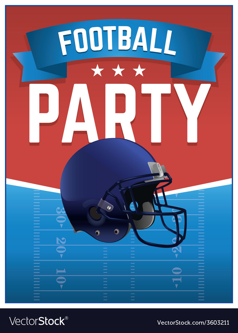 American football party flyer vector | Price: 1 Credit (USD $1)