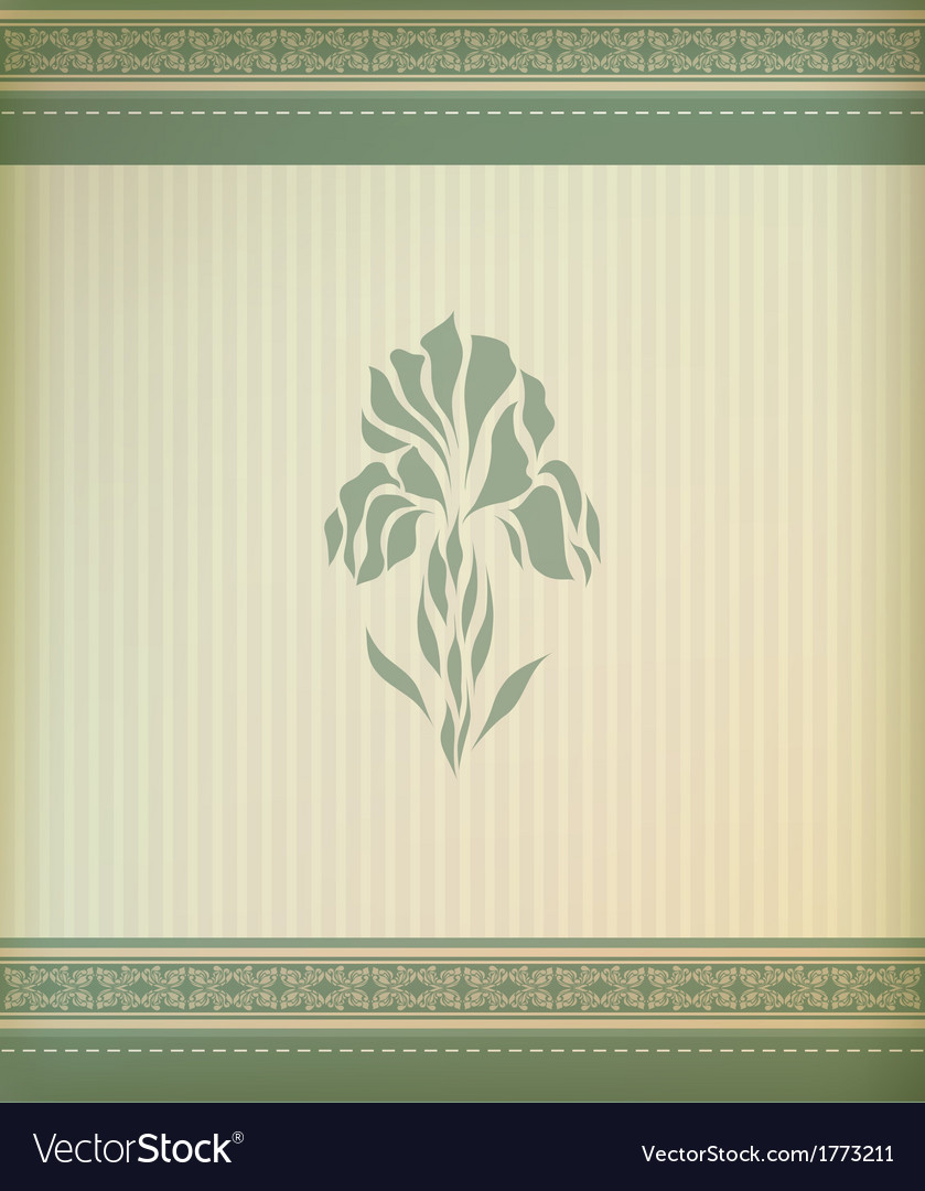 Beautiful vintage greeting card vector | Price: 1 Credit (USD $1)