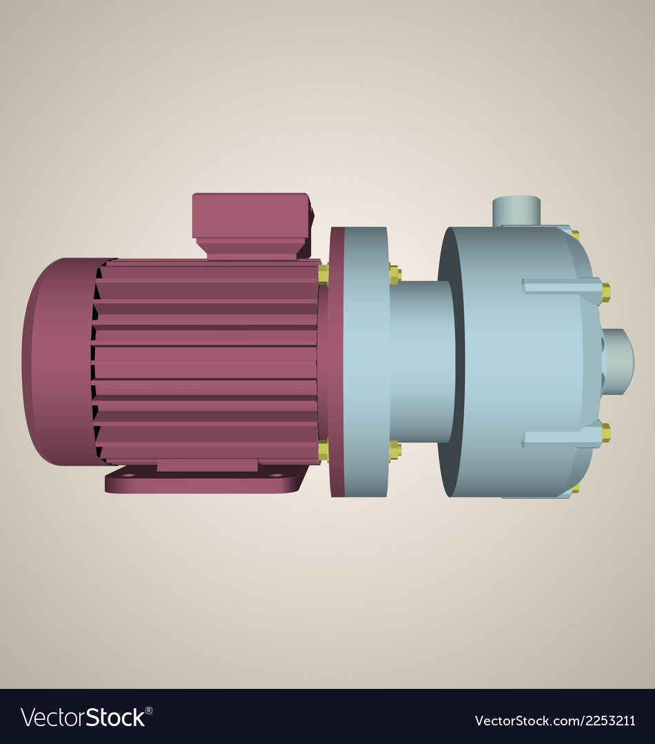 Centrifugal pump vector | Price: 1 Credit (USD $1)
