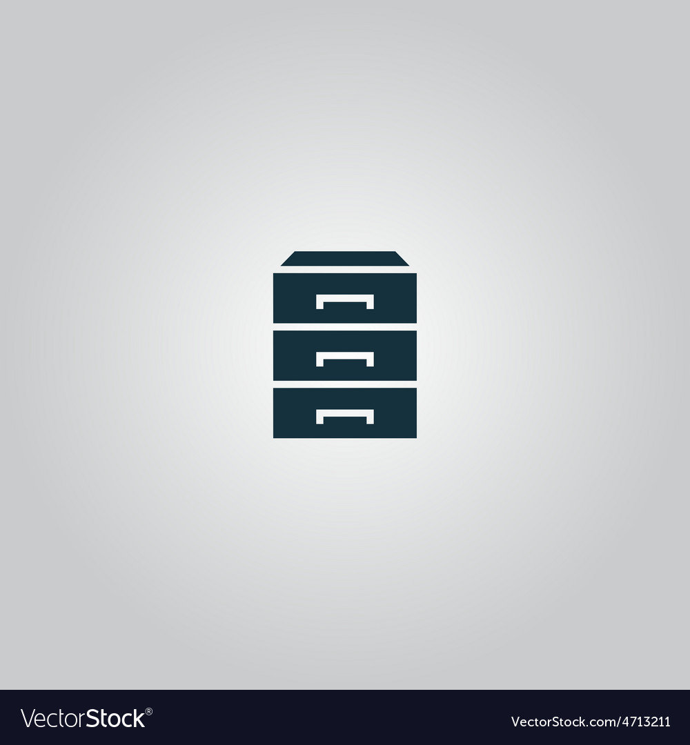 Chest of drawers icon vector   Price: 1 Credit (USD $1)