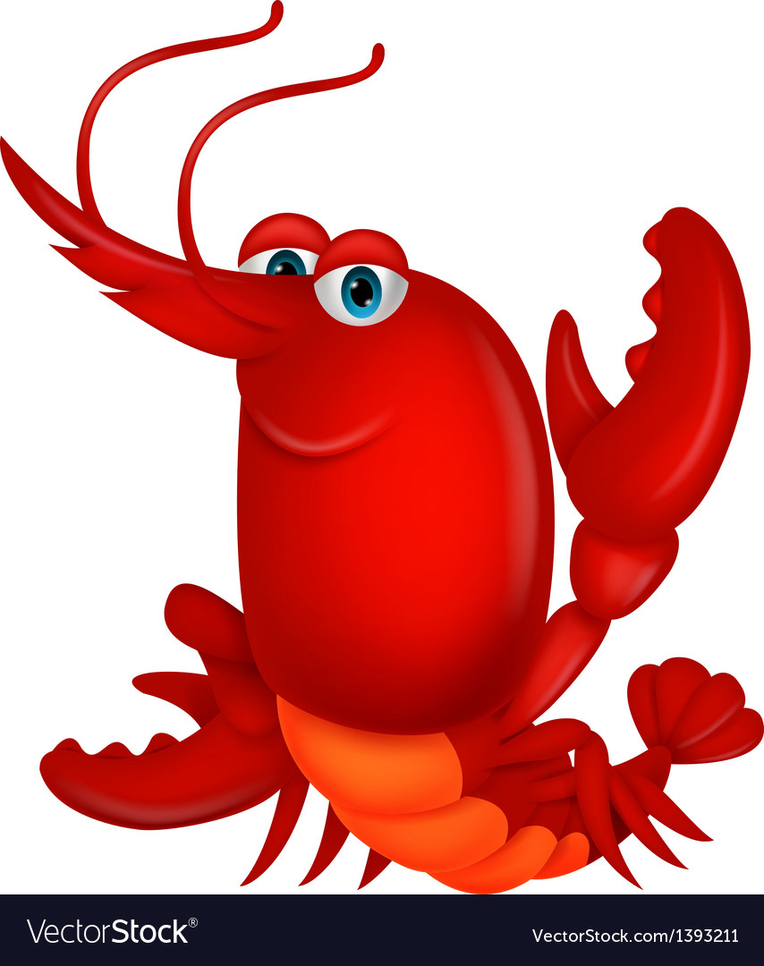 Cute lobster cartoon vector | Price: 3 Credit (USD $3)