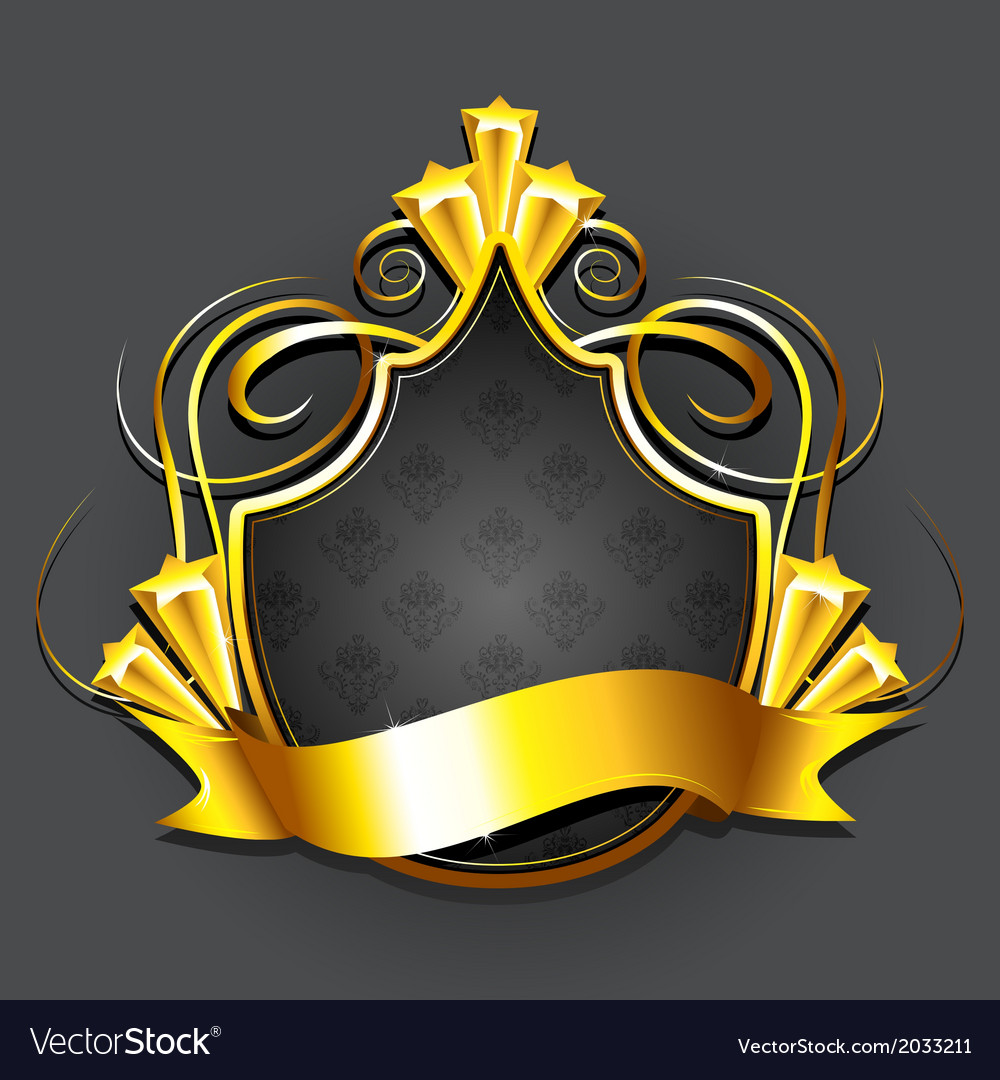 Golden royal badge vector | Price: 1 Credit (USD $1)
