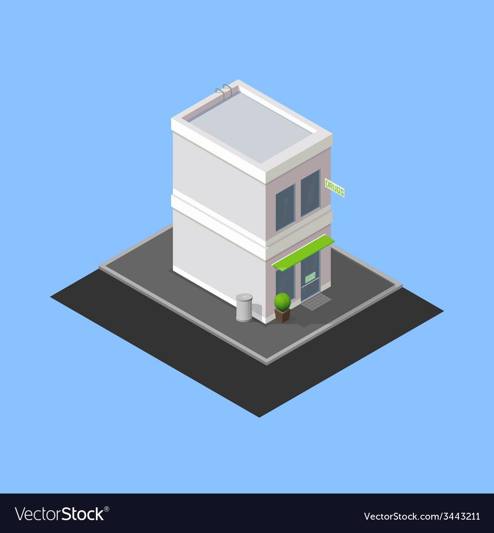 Isometric building vector | Price: 1 Credit (USD $1)