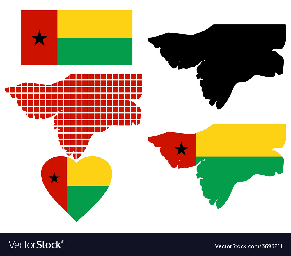 Map of guinea bissau vector | Price: 1 Credit (USD $1)