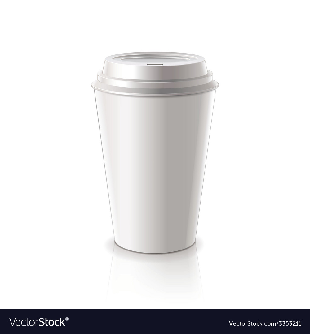 Paper coffee cup isolated vector | Price: 3 Credit (USD $3)