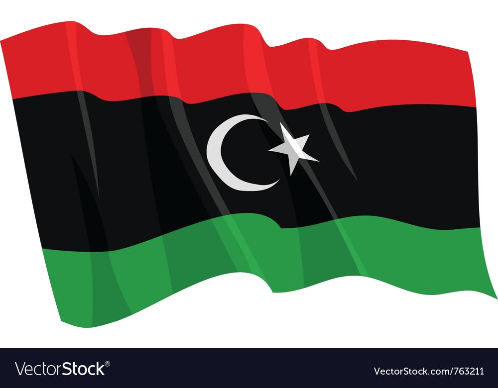 Political waving flag of libya vector | Price: 1 Credit (USD $1)