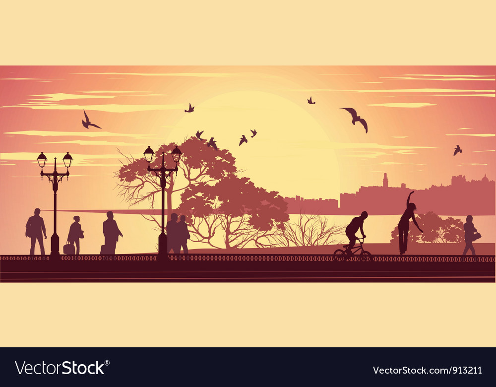 Promenade vector | Price: 1 Credit (USD $1)