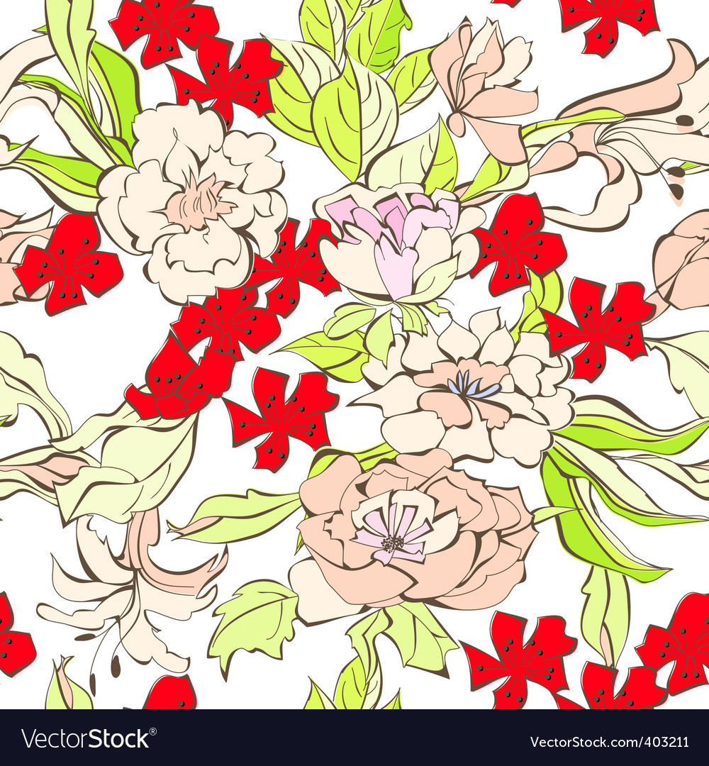 Summer seamless pattern vector | Price: 1 Credit (USD $1)