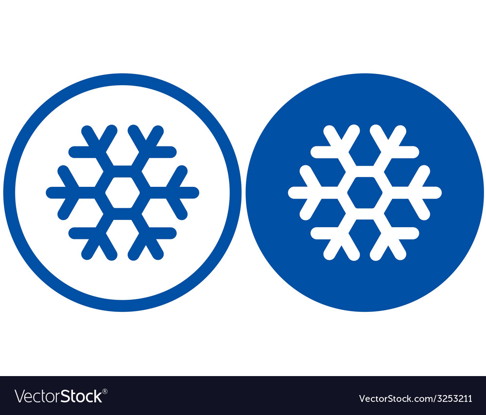 Two snowflake signs vector | Price: 1 Credit (USD $1)