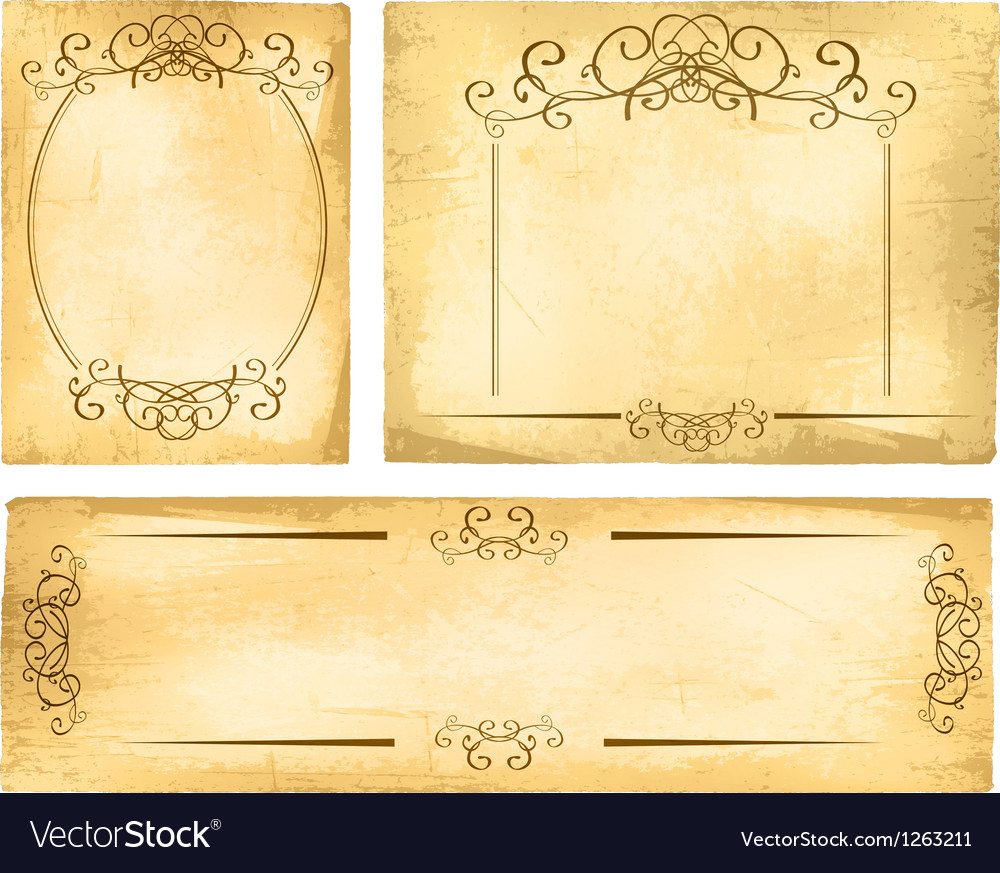 Vintage paper border collection vector | Price: 1 Credit (USD $1)