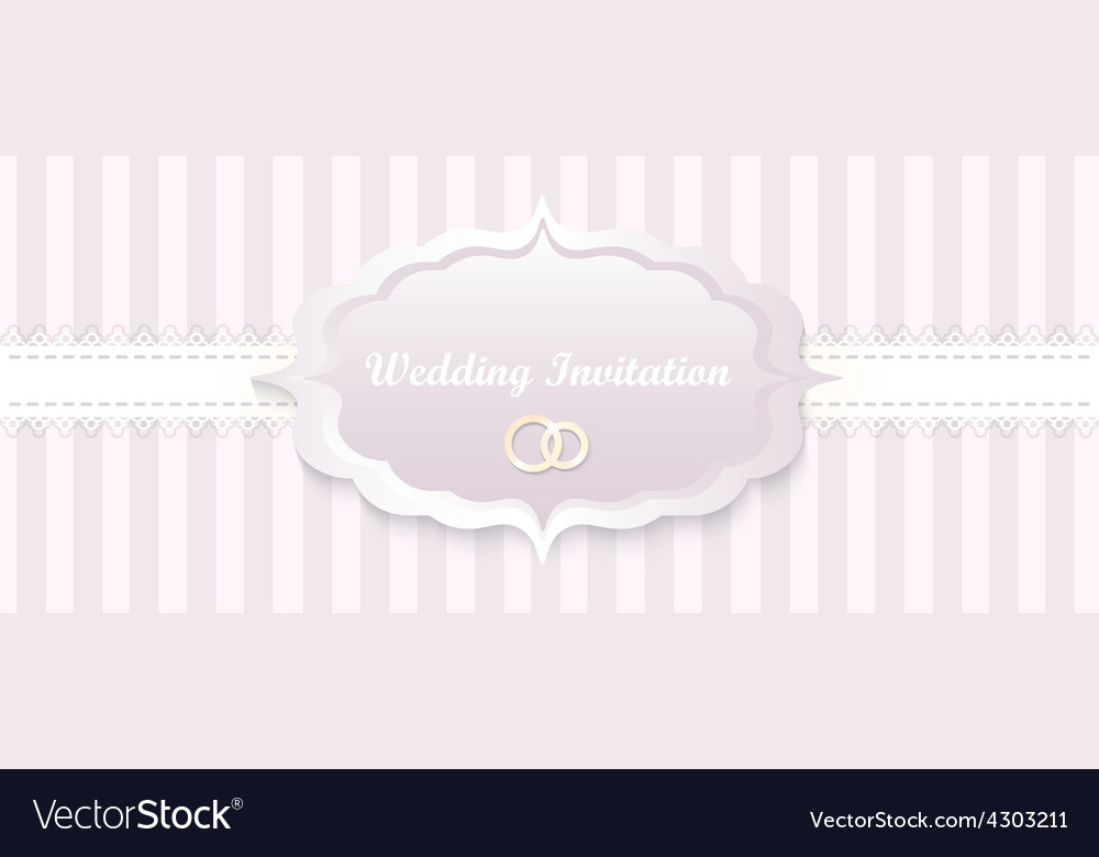 Wedding invitation card classic romantic design vector | Price: 1 Credit (USD $1)