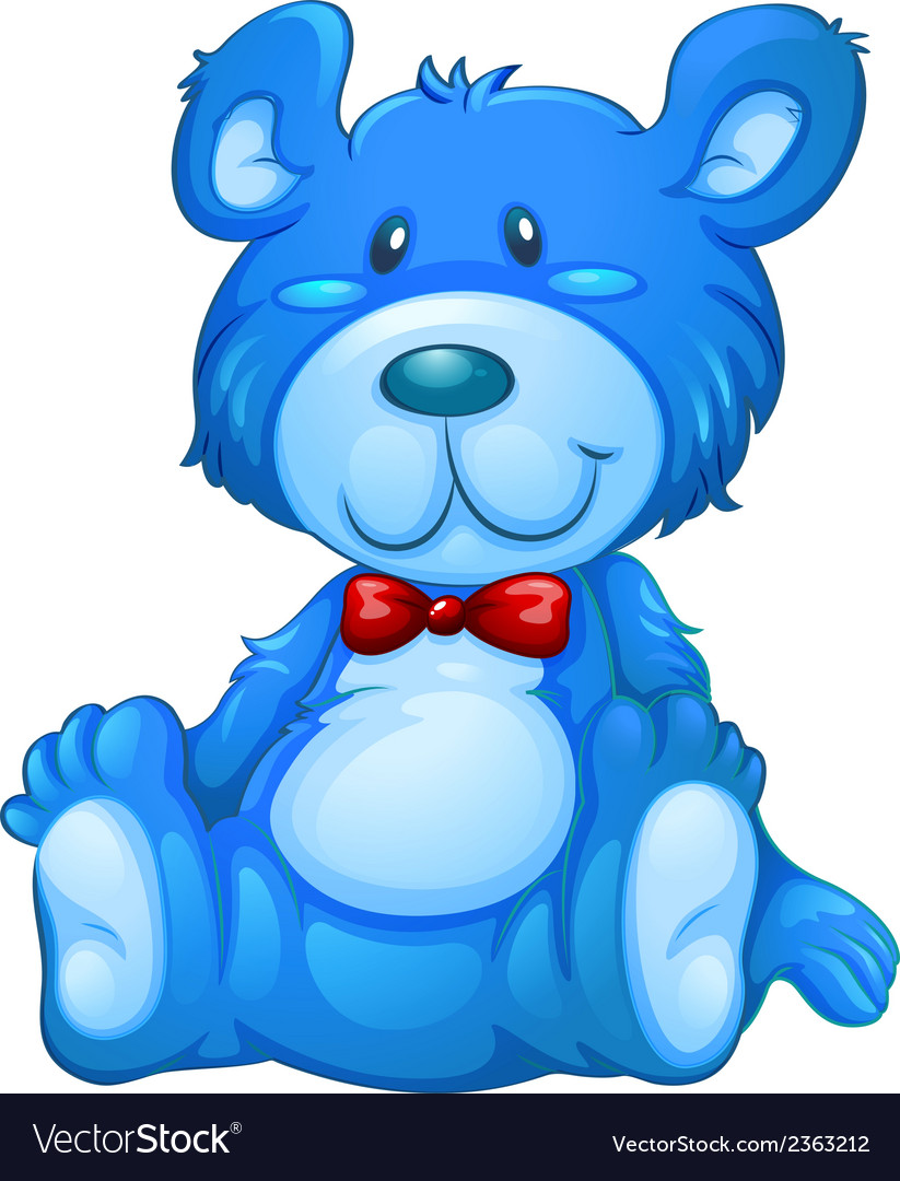 A blue teddy bear vector | Price: 3 Credit (USD $3)