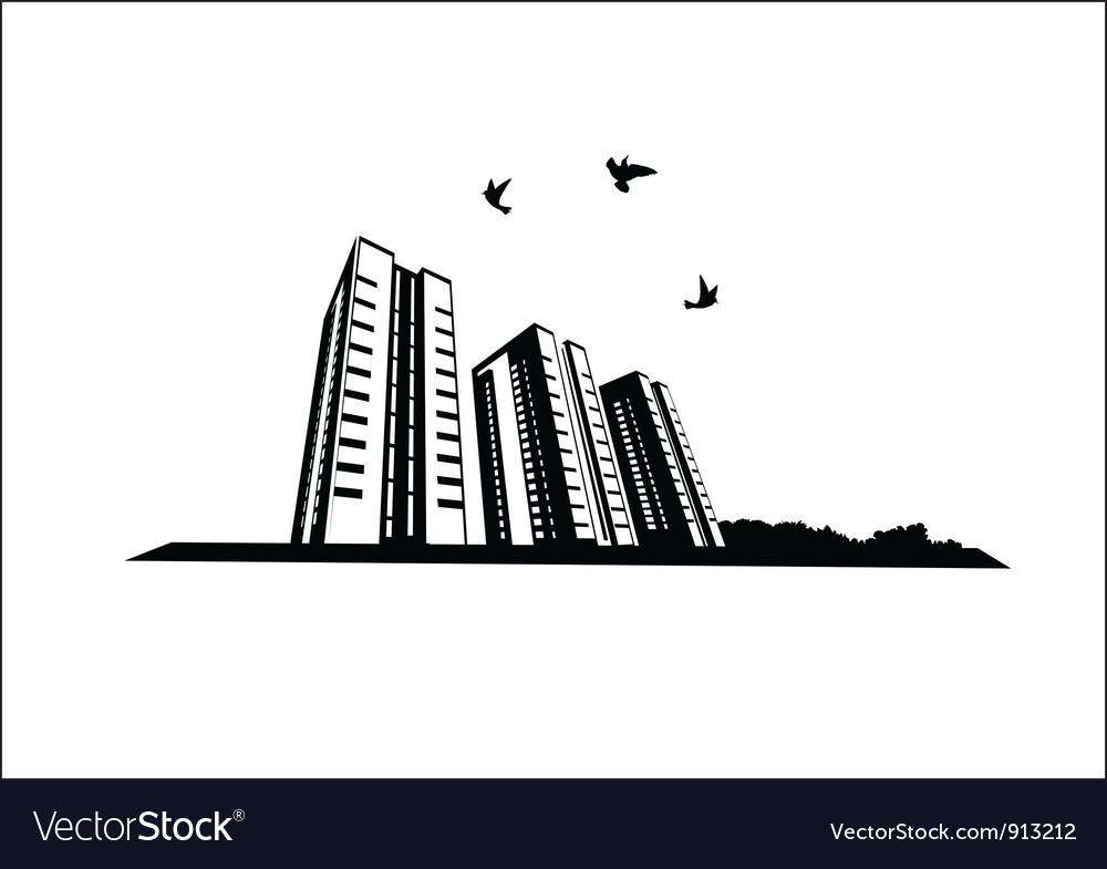 Birds in the city vector   Price: 1 Credit (USD $1)