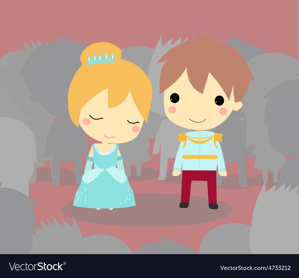 Cinderella and prince vector   Price: 1 Credit (USD $1)