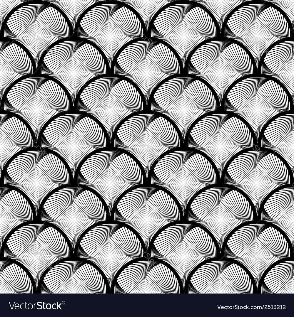 Design seamless circle striped geometric pattern vector | Price: 1 Credit (USD $1)