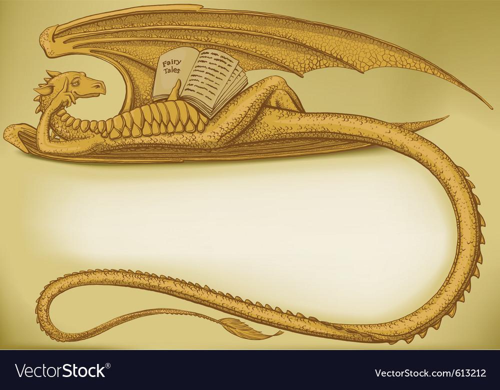 Dragon symbol vector | Price: 1 Credit (USD $1)