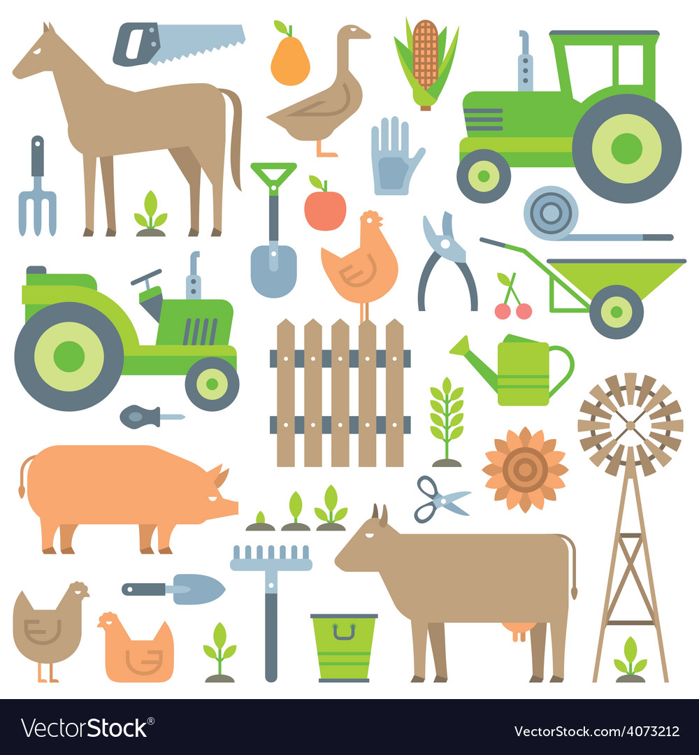 Farm pattern vector | Price: 1 Credit (USD $1)
